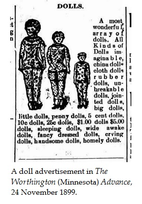 Doll ad, with legend