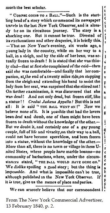 Hoax, 13 February 1840